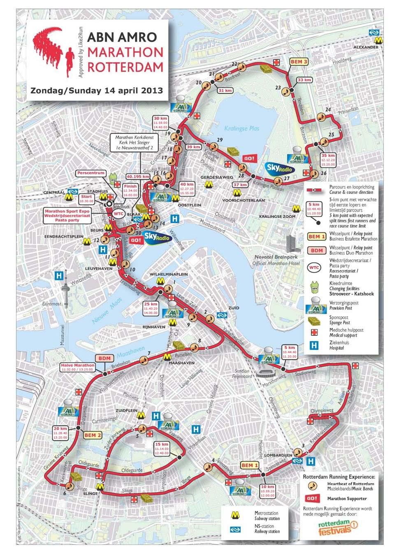 Route Marathon Rotterdam